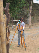 Andrew surveying in Comalapa, Guatemala.