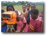 Minnesota Academy students surveying.